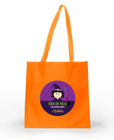 Cute Witch and Broom Halloween Bag