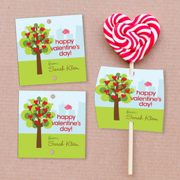 A Tree Of Love Lollipop Cards Set