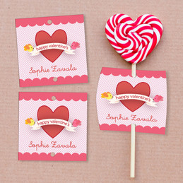 Cute And Lovely Lollipop Cards Set