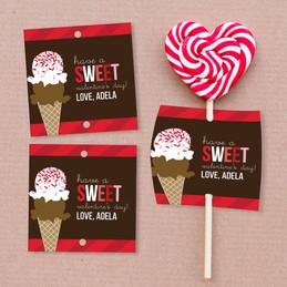Sweet Valentine's Day Lollipop Cards Set