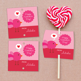 I Am Thinking Of Love Lollipop Cards Set