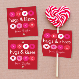 Hugs And Kisses Lollipop Cards Set