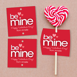 A Valentine Wish Lollipop Cards Set