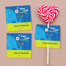 A Cool Valentine's Day Lollipop Cards Set