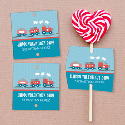 The Train Of Love Lollipop Cards Set