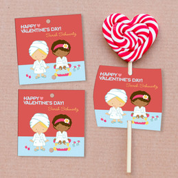 A Fabulous Valentine's Day Lollipop Cards Set