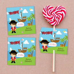 Yo Ho It's Valentine's Day Lollipop Cards Set