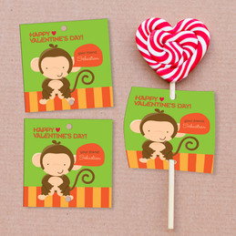 Bananas Over Valentines Lollipop Cards Set