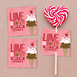 Love Is Sweet Lollipop Cards Set