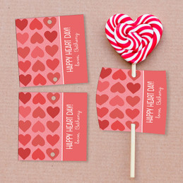 Full of Sweet Hearts Lollipop Cards Set