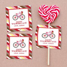 A Girl Love Ride Lollipop Cards Set