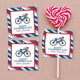 A Boy Love Ride Lollipop Cards Set