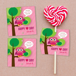 Owl Be Your Girlfriend Lollipop Cards Set