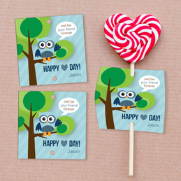 Owl Be Your Boyfriend Lollipop Cards Set