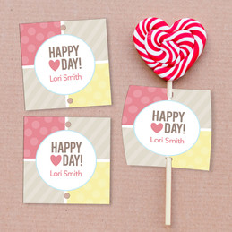 Love Is In The Air Lollipop Cards Set