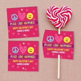 Peace, Love & Happiness Lollipop Cards Set