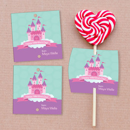 A Castle In The Sky Lollipop Cards Set