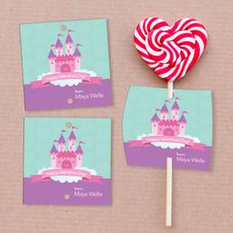 A Castle In The Sky Lollipop Cards Set