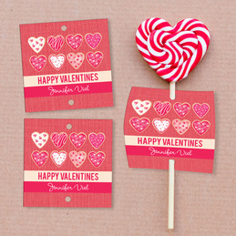 Full Of Hearts Lollipop Cards Set