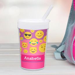 Girl Emojis Toddler Cup