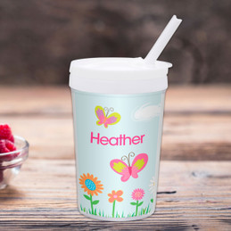 A Butterfly Field Toddler Cup
