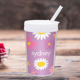 Field Of Flowers Purple Toddler Cup