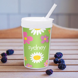 Field Of Flowers Green Toddler Cup