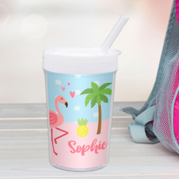 Sweet Flamingo Love Toddler Cup