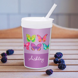 Bright Butterflies Toddler Cup