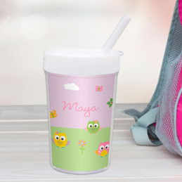 Owls On The Field Toddler Cup