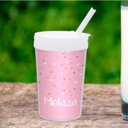 Sweet Glitter Dots Toddler Cup