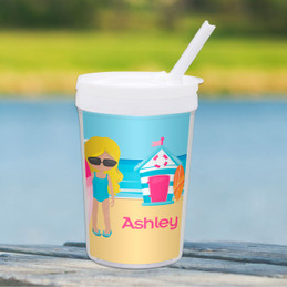 Beach Girl Toddler Cup