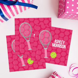 Tennis Fan Girl Gift Label Set