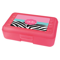 Zebra and pink Pencil Box