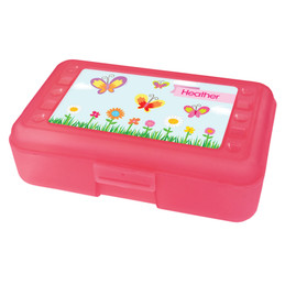 A butterfly field Pencil Box