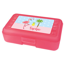 Sweet Flamingo Love Pencil Box