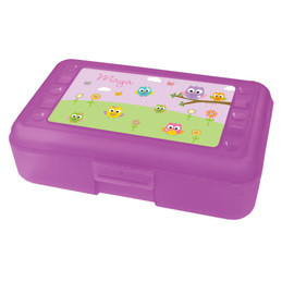 Owls on the field Pencil Box