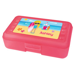 Beach Girl Pencil Box