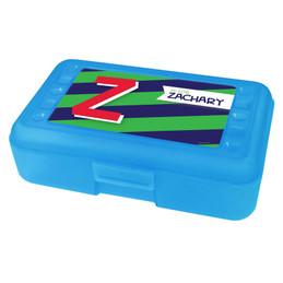 Brilliant Initial Green Pencil Box