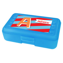 Brilliant Initial Red Pencil Box