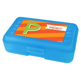 Brilliant Initial Orange Pencil Box