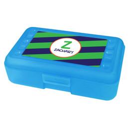 Fun Initials Green Pencil Box