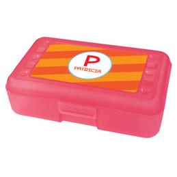 Fun Initials Orange Pencil Box