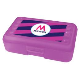 Fun Initials Magenta Pencil Box