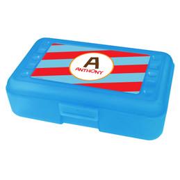 Fun Initials Red Pencil Box