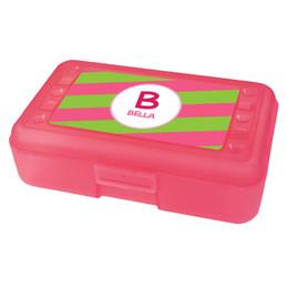 Fun Initials Pink Pencil Box