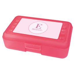 A Shiny Pink Letter Pencil Box