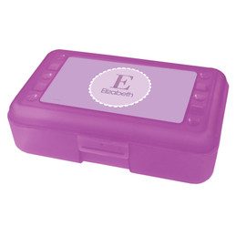A Shiny Purple Letter Pencil Box