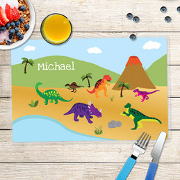 Dinosaurs in the Jungle Kids Placemats