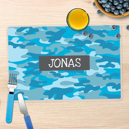Blue Camouflage Kids Placemats